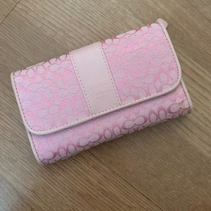 Light Pink Coach Small Wallet